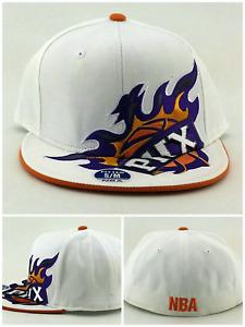 Phoenix Suns New NBA Elements PHX Rising White Orange Purple Fitted Era Hat Cap