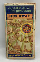 Vintage Road Map & Historical Guide New Jersey Map Historical Pictorial Sunoco