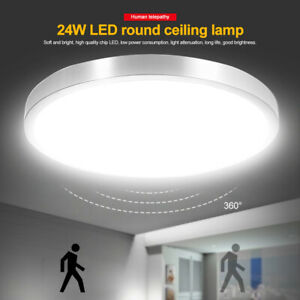 LED Ceiling Light PIR Panel Down Lights Bathroom Kitchen Living Room Wall Lamp