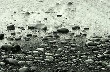 Framed Print - Black & White Pebble Beach (Picture Poster Ocean Sea Sand Art)