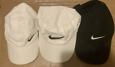 Lot of 3 Vintage Nike Hat Cap White Black Adjustable