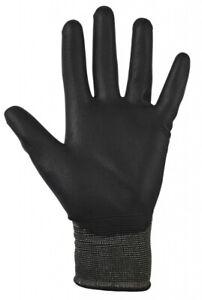 Black Pu Gloves, 9 - Large  By Glenwear