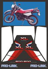 Honda XL 600 RM 1986/90 modello Nero - adesivi/adhesives/stickers/decal