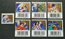 2000 New Zealand Christmas Celebration 7v Stamps (6v Barcode, 1v Self Adhesive)