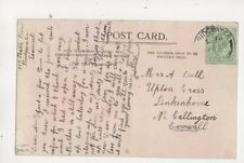 Mrs A Ball Upton Cross Linkenhorne Callington Cornwall 1910 452b