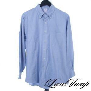 #1 MENSWEAR Brooks Brothers Made in USA Blue Oxford Cloth OCBD Supima Shirt 16
