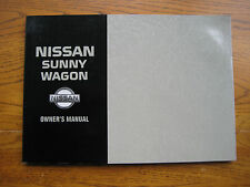 Nissan Sunny Wagon Owners Handbook Manual