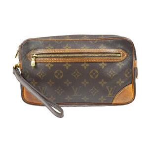 LOUIS VUITTON MARLY DRAGONNE CLUCTH HAND BAG PURSE MONOGRAM M51825 SL0093 83066