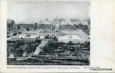 BAGNAIA - La Gran Vasca nel giard. d. Villa, pan. del Paese