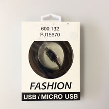 Fashion USB Data Cable für iPhone 5 5S 5SE 6 6Plus iPad Air 2 1.5 m schwarz Pete