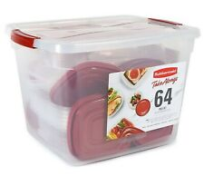 Rubbermaid 64 Piece Food Storage Containers Set Plastic TakeAlongs