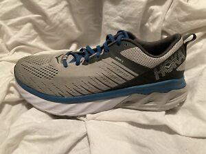 Hoka One One Mens Arahi 3 Gray Blue Running Shoes Sneakers 9.5 2E