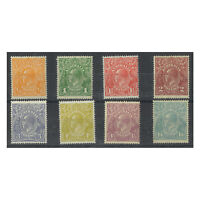 Australia 1926-28 KGV Small Mult Watermarks P14 Set/8 Stamps SG85/93 MLH 11-15