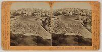 Betlemme Vista Generale Cisgiordania Foto Stereo L5n11 Vintage Albumina 1869