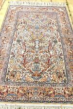 Persian Isfahan Esfahan silk and wool handmade hand knotted rug 240 x 160 cm