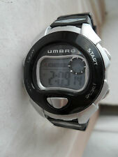 UMBRO WATCH DIGITAL CHRONOGRAPH ALARM LIGHT SPORTS WRISTWATCH LADIES MENS U639B
