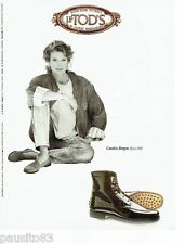 PUBLICITE ADVERTISING 106  1996  Tod's  chaussures Candice Bergen hiver 1992