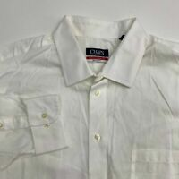 Chaps Button Up Dress Shirt Men's 18-18.5 Long Sleeve White Wrinkle Free Casual