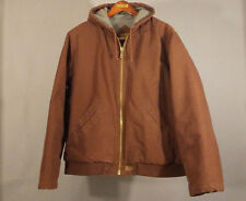 Austin Clothing Co 2XL Hooded Duck Canvas Flannel Insulated Dk Brown Work Jacket