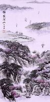 ORIENTAL ASIAN FINE ART CHINESE FAMOUS SANSUI WATERCOLOR PAINTING-Mountains view