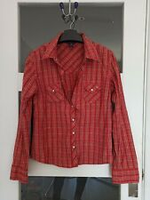 Ladies Abercrombie and Fitch red shirt with popper buttons size L