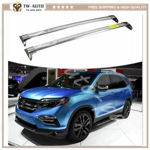 Fit for Acura MDX 2013-2016 Stainless Steel Roof Rail Rack Cross Bars Crossbar
