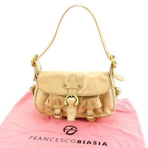 Francesco Biasia Shoulder bag Beige Woman Authentic Used Y2564