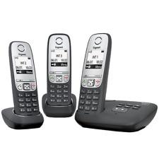 Gigaset A415A Trio mit Anrufbeantworter schwarz Schnulostelefon NEU !!!
