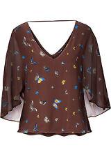 Raffiniertes Shirt mit Fledermausärmeln Gr.36/38