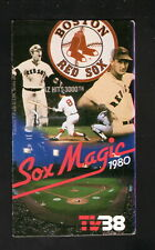 Boston Red Sox--Williams--Yastrzemski--Fisk--1980 Pocket Schedule--Star Market