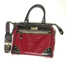 Samantha Brown Red Croc Embossed Dowel Shoulder Bag Travel Bag Carry On Luggage