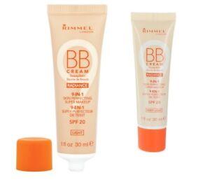 Rimmel BB Cream 9 in 1 Skin RADIANCE Make Up 30ml SPF20 Sealed -Choose shade-