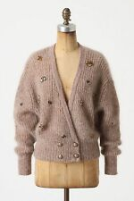 Anthropologie Cropped Jeweled Cardigan Sweater Crystal Bees By Charlie & Robin L