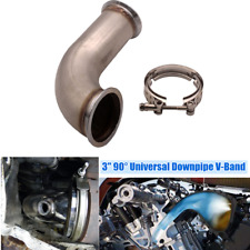 """3"""" 90 Degree Turbo Chargers Downpipe V-Band w/clamp Pipe Short Leg 6"""" Universal"""
