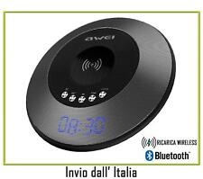 AWEI WIRELESS BLUETOOTH MISICA AUDIO SPEAKER MP3 CON AUX FM RADIO SVEGLIA 05069