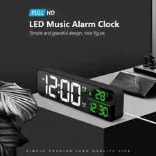 Long Columnar Bedroom LED Digital Alarm Clocks With Snooze Dual Clock Dimmer New
