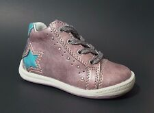 Brand New $80 European Shoes Baby Toddler Boys Purple LEATHER Size 5 USA/21 EURO