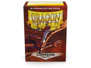Matte Crimson 100ct Dragon Shield Sleeves Standard Size FREE SHIPPING 10% OFF 2+
