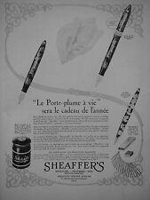 PUBLICITÉ 1931 SHEAFFERS LE PORTE-PLUME A VIE - ADVERTISING