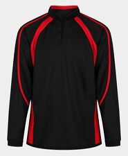 Boys Long Sleeve Football Rugby Top Reversible Black/Scarlet XS 30/32 Chest NEW