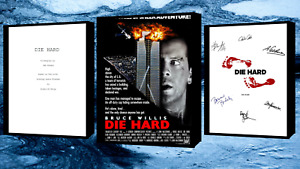 Die Hard Script/Screenplay & Movie Poster And Autographs Signed Print