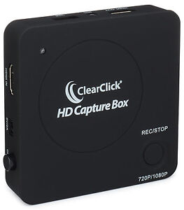 ClearClick HD Capture Box - Record Capture HDMI Video From Gaming Systems & More