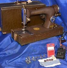 SEW GEM MODEL 215 FULL ROTARY SEWING MACHINE REVERSE SERVICED SEW 6 LAYERS DENIM