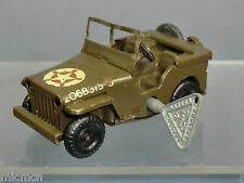 "TRI-ANG MINIC CLOCK WORK MODEL No.78M   No.1  JEEP   "" USA MILITARY"""