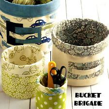 Bucket Brigade Sewing Pattern Make Fabric Storage Containers Bins for Organizing