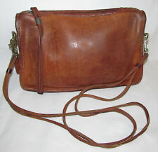 Coach Vintage Brown Leather Shoulder Bag Purse New York City Needs Repair AS IS
