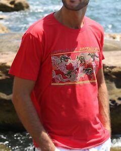 Unisex Souvenir T-shirt 100% cotton Australia Art Kangaroo
