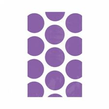 Amscan Candy Buffet Polka Dots 10 Treat Bags, Purple - Bags Paper Scoops Labels