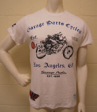 Christian Audigier Garage Parts Motor Cycle Racer Off White T-Shirt (L) NEW