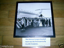 Delta Air Lines DC 9 photo with 1966 Atlanta Braves 12 x 12 Framed